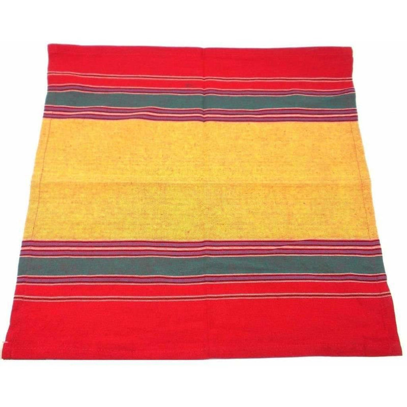 Fair Trade Bright Striped Cotton Napkins, Set of 4,cloth table napkins,Adley & Company Inc.