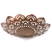 Fair Trade Metal Mandala Bowl,Serving bowl,Adley & Company Inc.