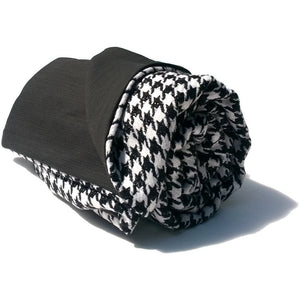 Black & White Houndstooth Wool Blanket Throw,throw blanket,Adley & Company Inc.