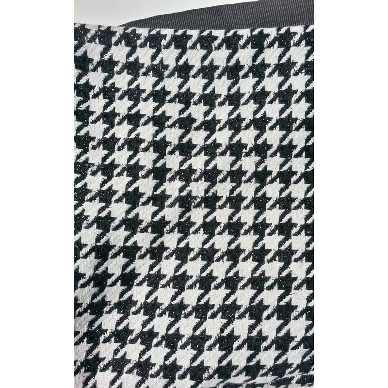 Black White Houndstooth Wool Blanket Throw Adley Company Inc Gorgeous Black And White Houndstooth Throw Blanket