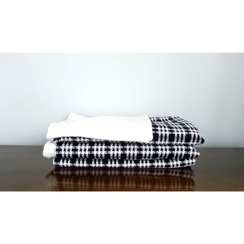 Black & White Wool Throw Blanket,throw blanket,Adley & Company Inc.
