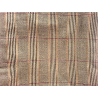 Traditional Brown Tweed Wool Throw Blanket - Adley & Company Inc.