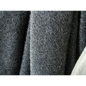 Shaggy Grey & White Wool Blanket Throw,throw blanket,Adley & Company Inc.