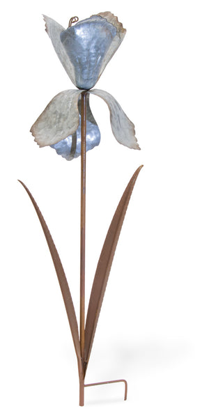 Iris Metal Flower Garden Stake,lawn ornament,Adley & Company Inc.
