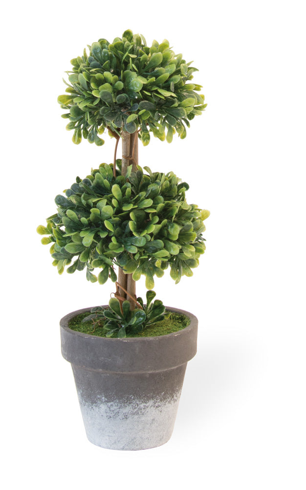Double Ball Faux Topiary, Set of 4