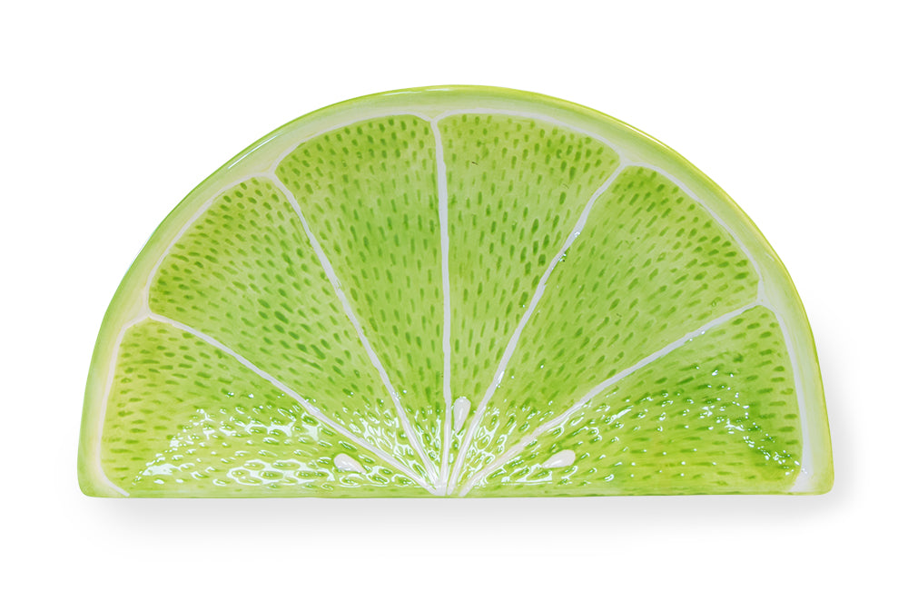 Green Citrus Lime Wedge Plates, Set of 6