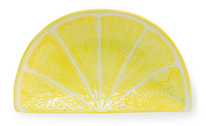 Yellow Citrus Lemon Wedge Plates, Set of 4,serving platter,Adley & Company Inc.