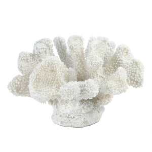 White Faux Decorative Table Top Coral
