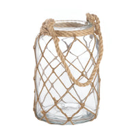 Fisherman's Net Glass Candle Lantern,candle lantern,Adley & Company Inc.