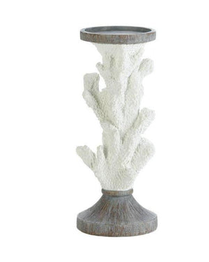 White Coral Candle Holder,candle holder,Adley & Company Inc.