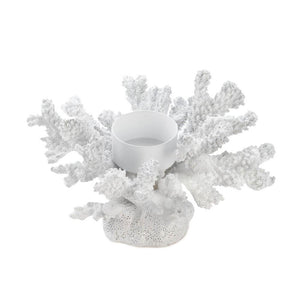 White Coral Tea Light Candle Holder,candle holder,Adley & Company Inc.