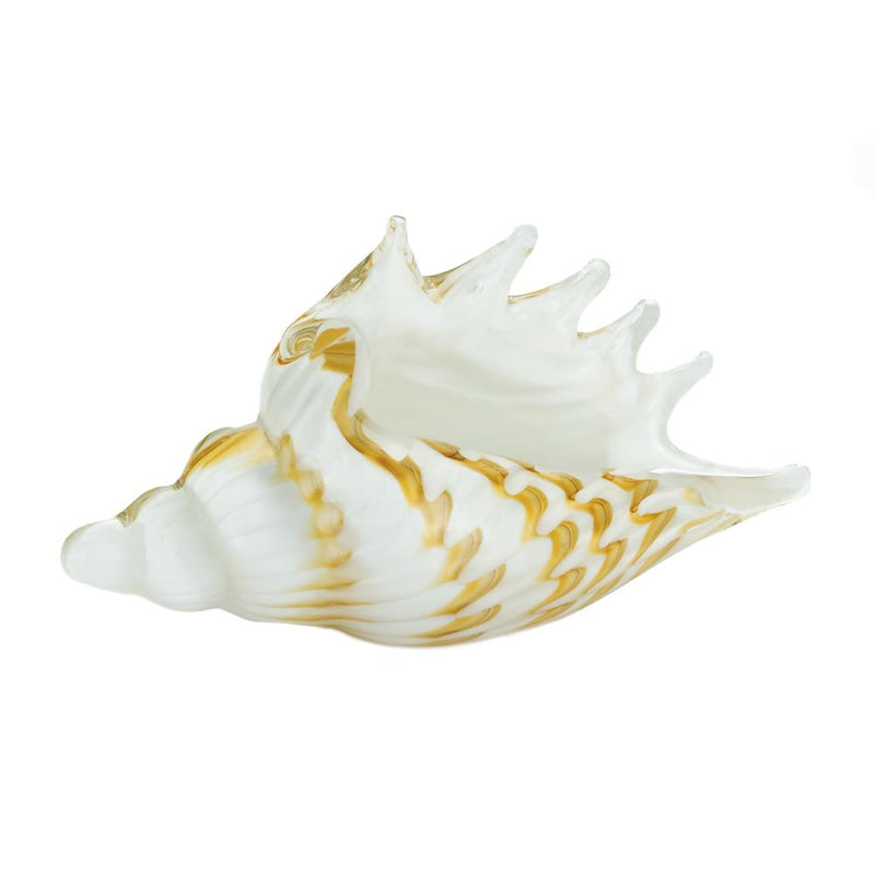 Glass Conch Shell Sculpture,shell,Adley & Company Inc.