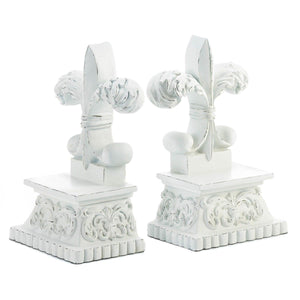 Fleur-de-Lis Book End Set,book end,Adley & Company Inc.