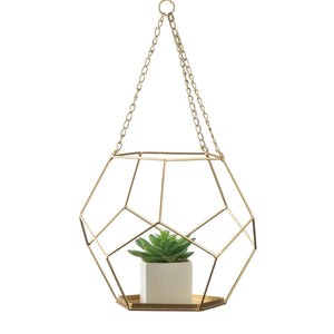 Geometric Hanging Planter Plant Holder,PLANTER,Adley & Company Inc.