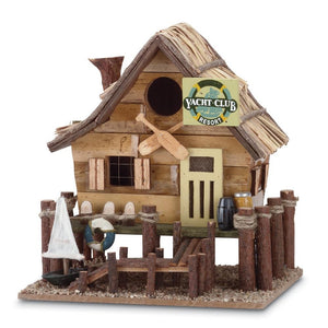 Yacht Club Wooden Birdhouse,bird house,Adley & Company Inc.
