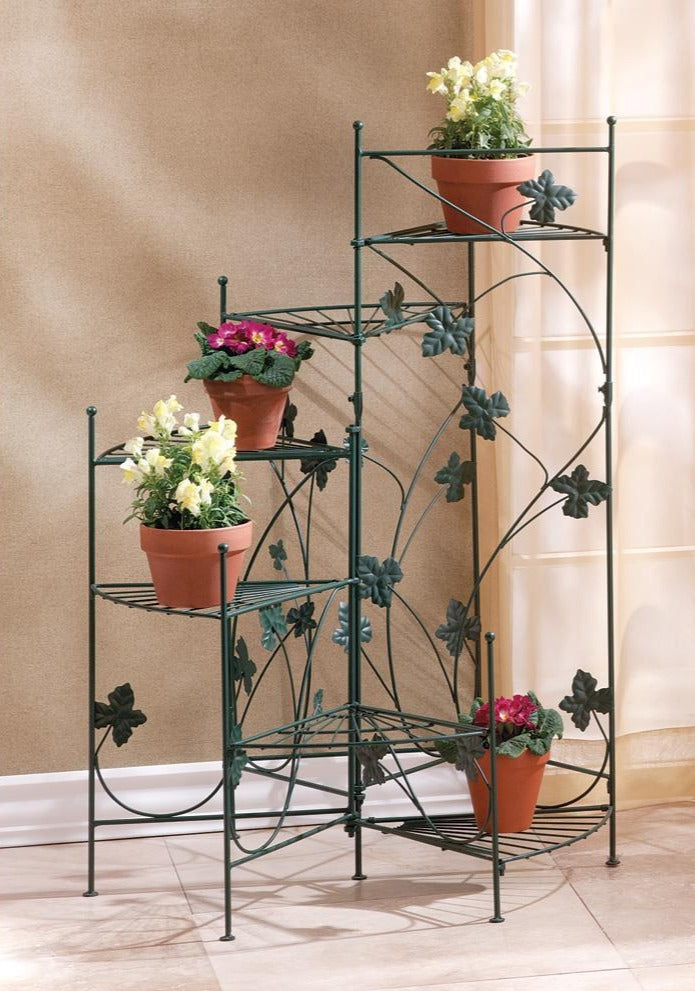 Ivy Leaves Staircase Plant Stand,planter,Adley & Company Inc.