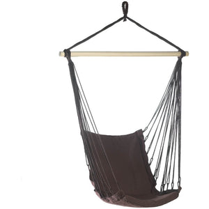 Dark Brown Cotton Padded Hammock Chair,hammock,Adley & Company Inc.