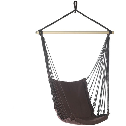 Dark Brown Cotton Padded Hammock Chair