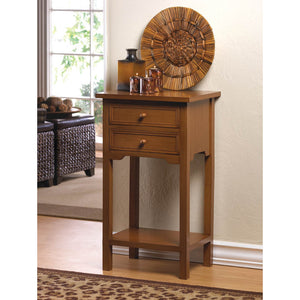 Chestnut Brown Wood Side Table,side table,Adley & Company Inc.