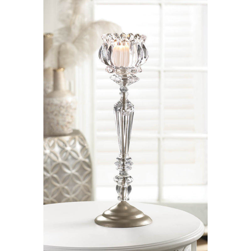 Crystal Glass Tall Candle Holders,candle holder,Adley & Company Inc.