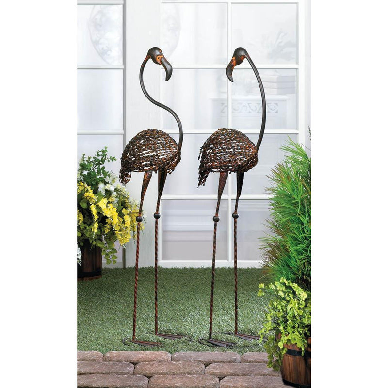 Cast Iron Flamingos Garden Statue,flamingo,Adley & Company Inc.