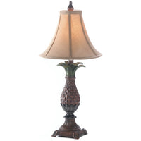 Plantation Pineapple Table Lamp with Fabric Shade