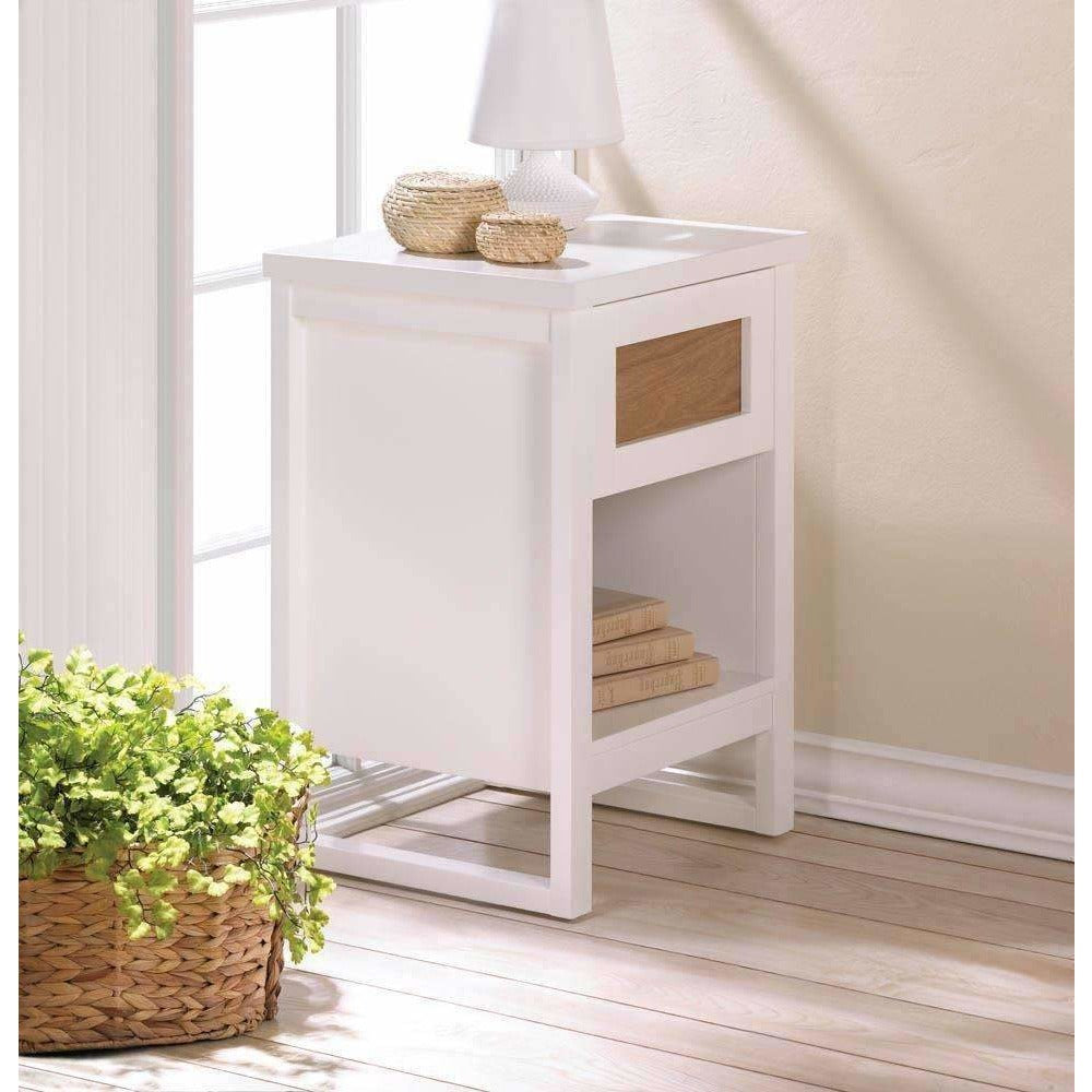 Simply White Side or End Table,cabinet,Adley & Company Inc.