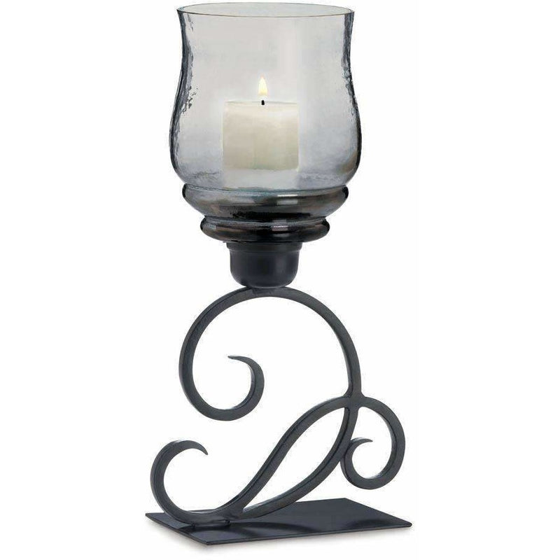 Iron Scroll Hurricane Candle Holder,hurricane lamp,Adley & Company Inc.