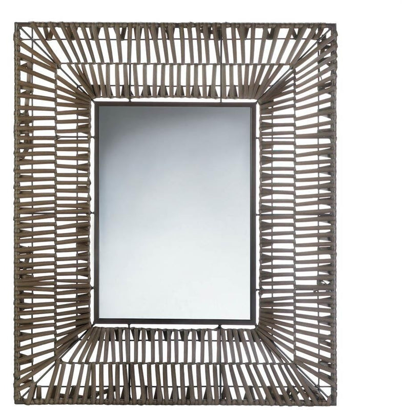 Rattan Rectangular Wall Mirror,mirror,Adley & Company Inc.