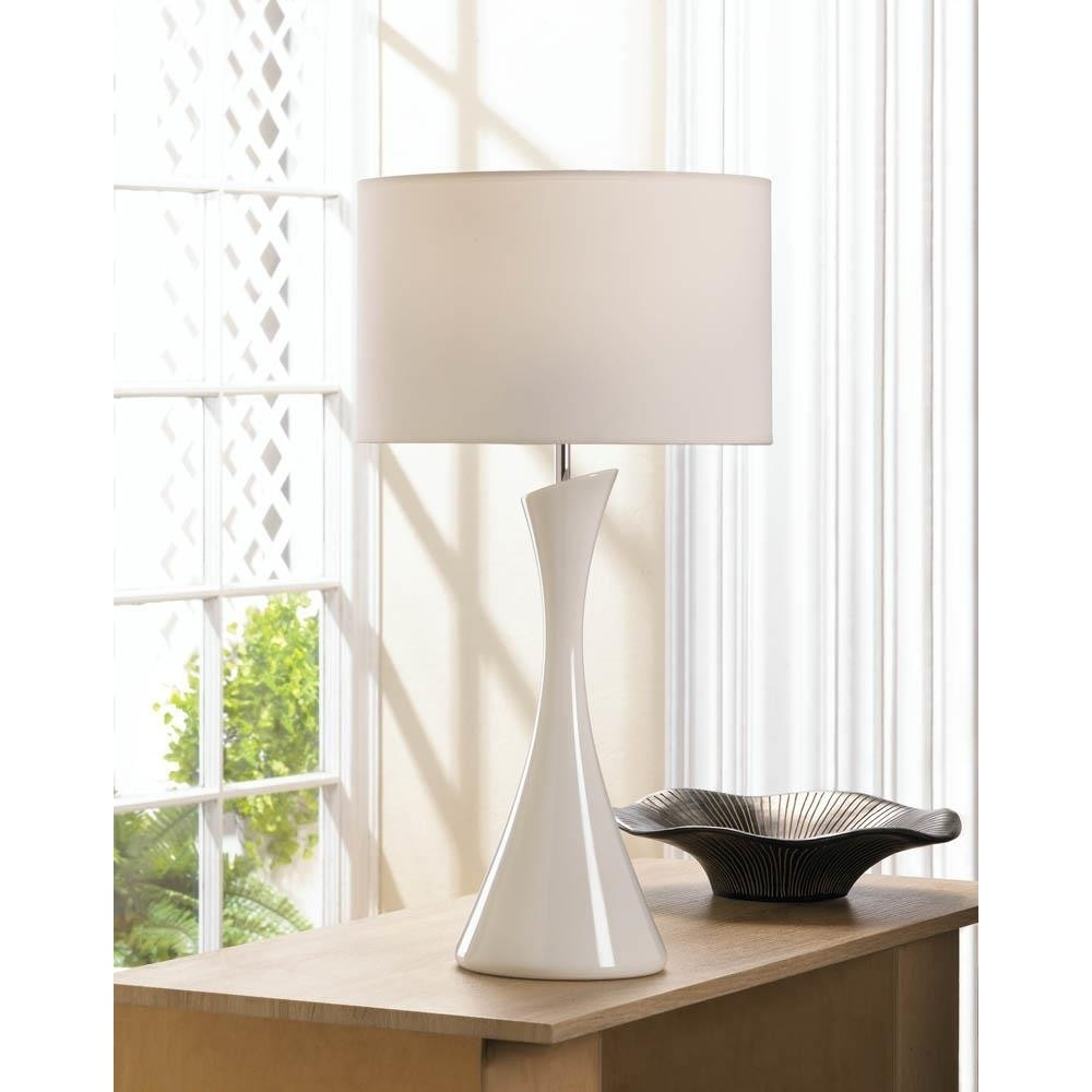 Modern and Sleek White Table Lamp