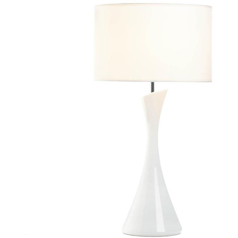 Modern and Sleek White Table Lamp,table lamp,Adley & Company Inc.