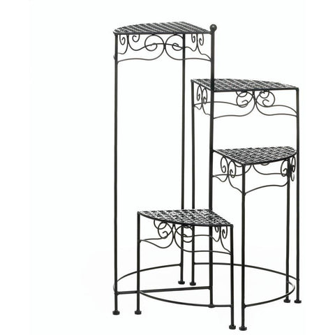 Tiered Metal Plant Stand, Black or White - Adley & Company plant stand, Adley & Company Inc., Adley & Company Inc.