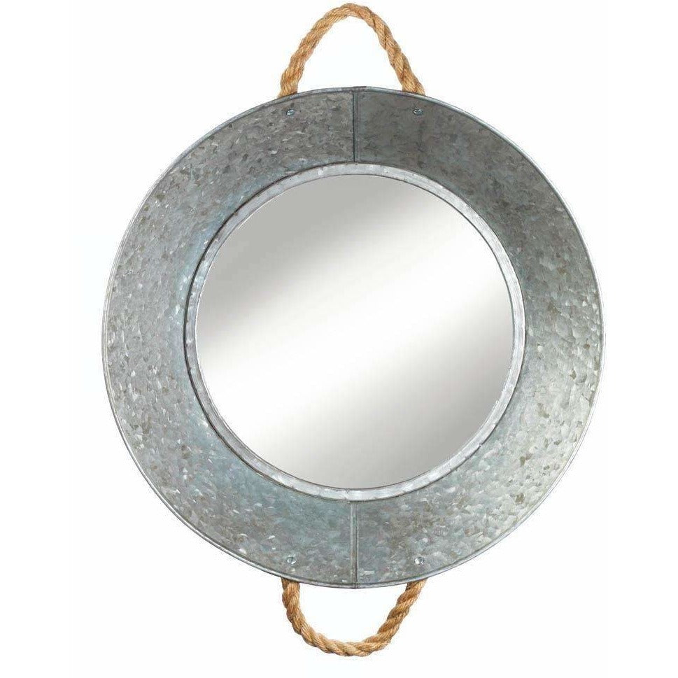 Metal Tin Round Wall Mirror,mirror,Adley & Company Inc.