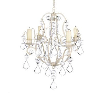 Ivory Wrought Iron Candle Chandelier,chandelier,Adley & Company Inc.