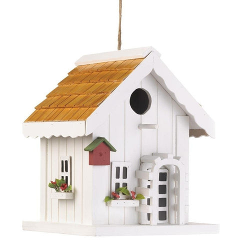 White Classic Style Bird House - Adley & Company bird house, Adley & Company Inc., Adley & Company Inc.