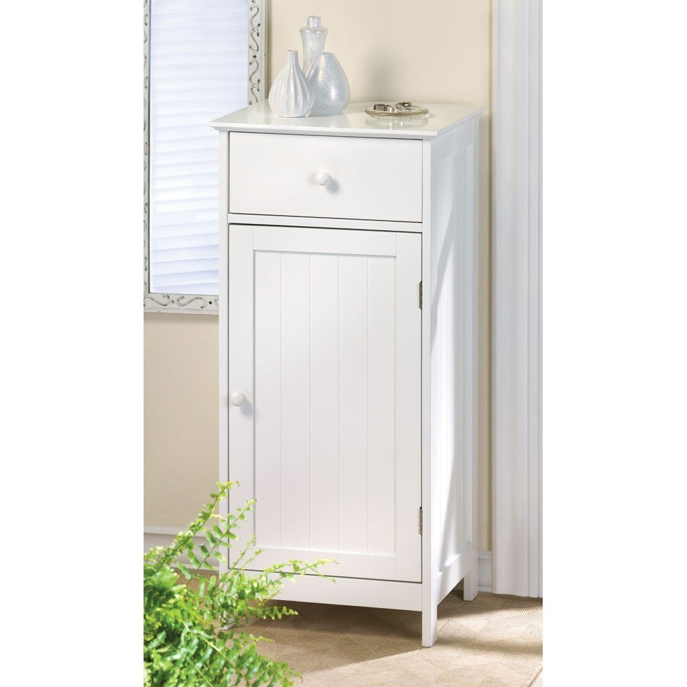 Cape Cod White Storage Cabinet or Bedside Table,cabinet,Adley & Company Inc.
