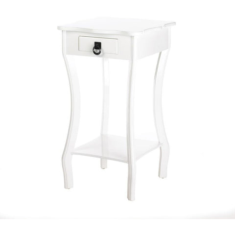 Elegant White Side Table, Night Stand Table