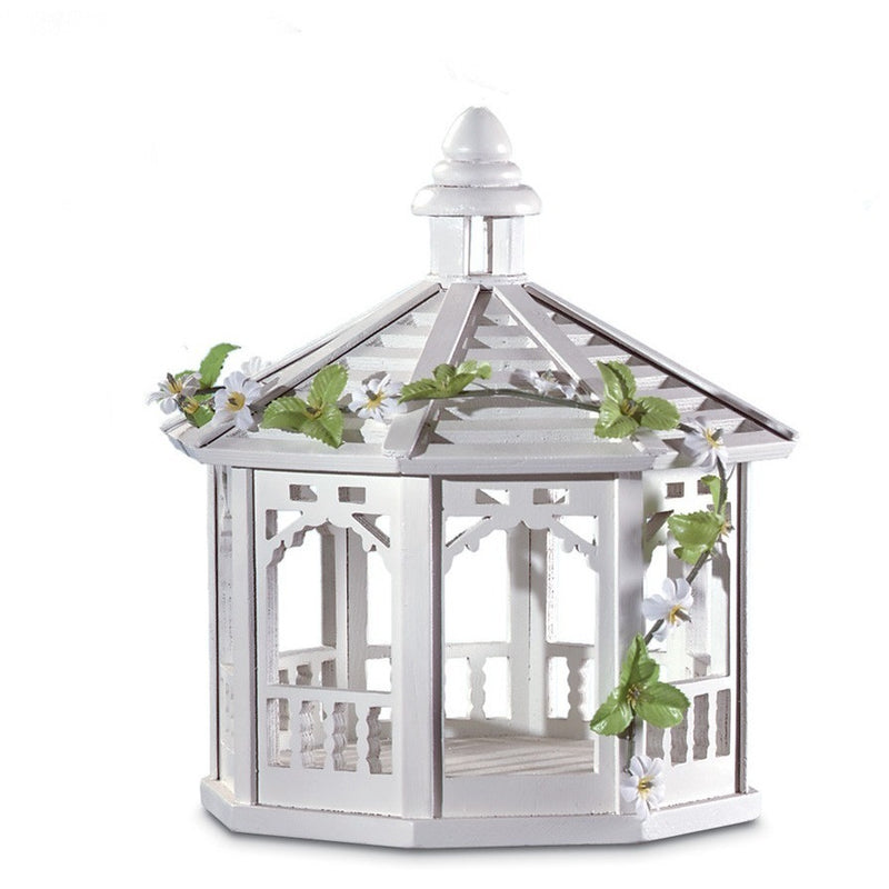 White Gazebo Bird House,bird house,Adley & Company Inc.