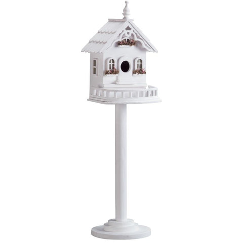 White Victorian Classic Style Bird House