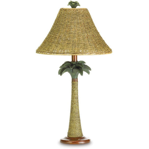 Tropical Palm Tree Plantation Rattan Lamp