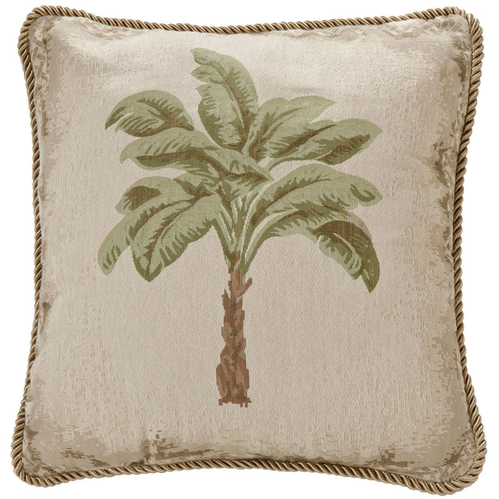 Palm Tree European Throw Pillow,throw pillow,Adley & Company Inc.