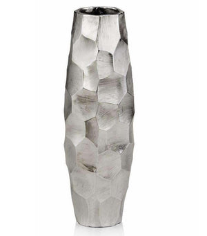 Silver Geometric Table Vase,Vase,Adley & Company Inc.