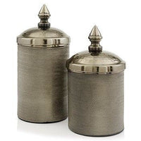 Silver or Bronze Metal Canisters,canister,Adley & Company Inc.