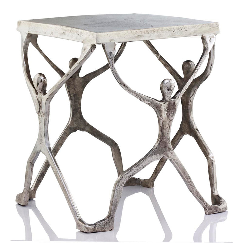 Caballero Man Figure Square Side Table,side table,Adley & Company Inc.