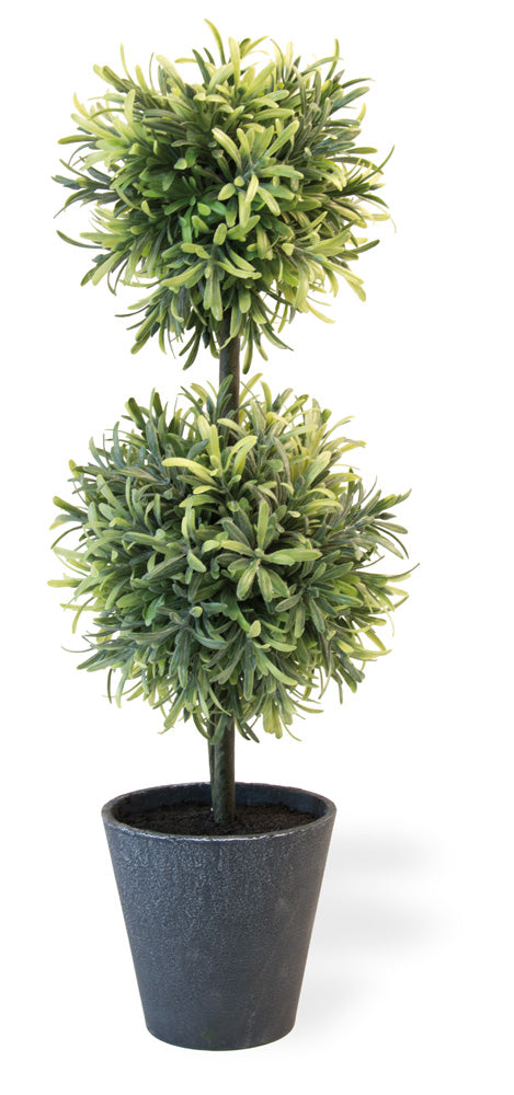 Rosemary Double Ball Faux Topiary,topiary,Adley & Company Inc.