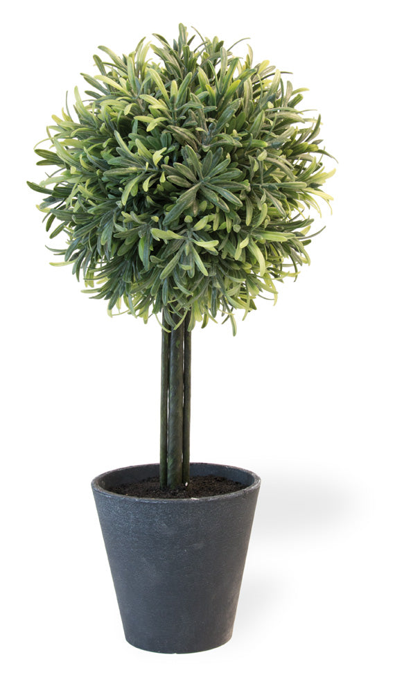 Rosemary Ball Faux Topiary,topiary,Adley & Company Inc.