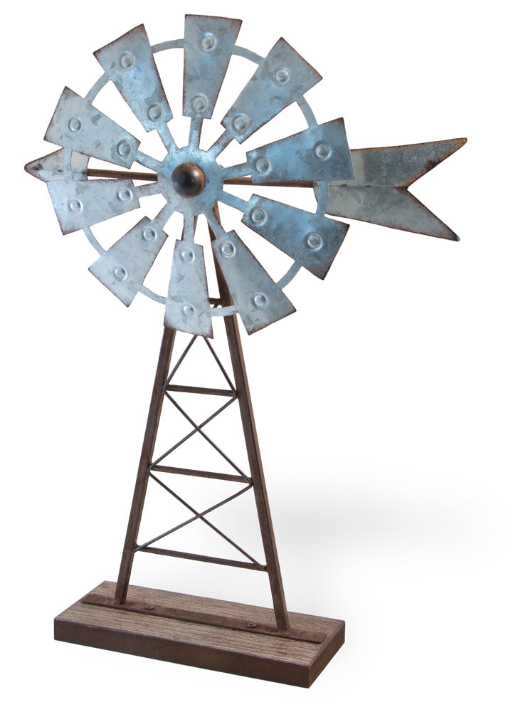 Table Top Metal & Wood Wind Mill,WINDMILL,Adley & Company Inc.