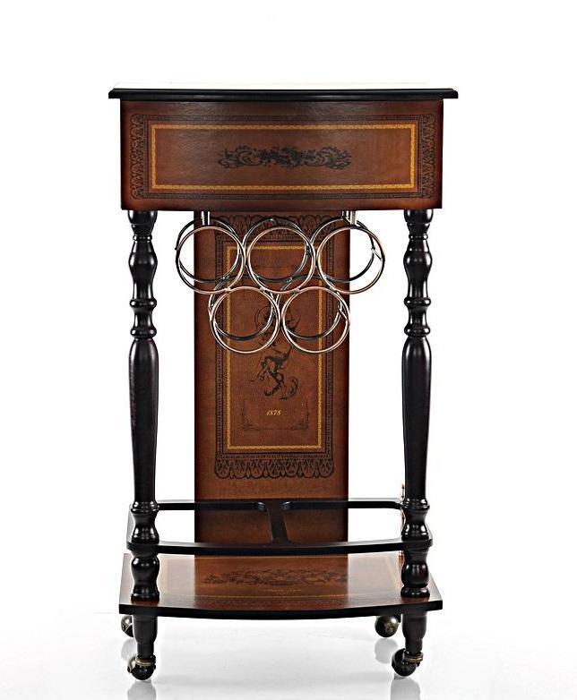 Vintage Style Wine Cabinet with Drawer