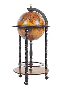 Classic World Globe Bar Cart Cabinet,ottoman,Adley & Company Inc.
