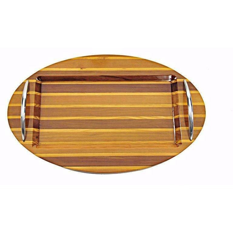 Oval Cedar Wood Serving Tray,serving tray,Adley & Company Inc.